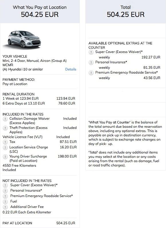 «Герц» предлагает Хендай Ай-10 за 504€ c 16 по 29 апреля с обычной страховкой (CDW)