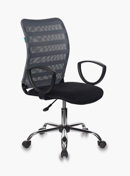 Кресло «Бюрократ CH-599AXSL» с металлической крестовиной. Источник: «Яндекс-маркет»