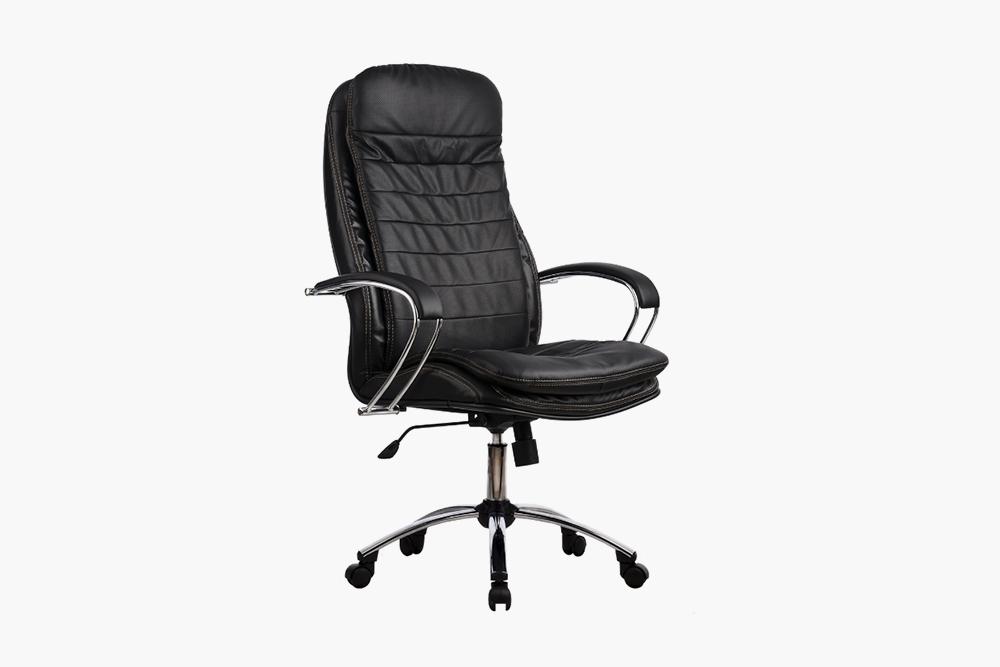 Кресло «Метта LК-3 Ch» с&nbsp;кожаной обивкой, 10 835<span class=ruble>Р</span>. Источник: «Яндекс-маркет»