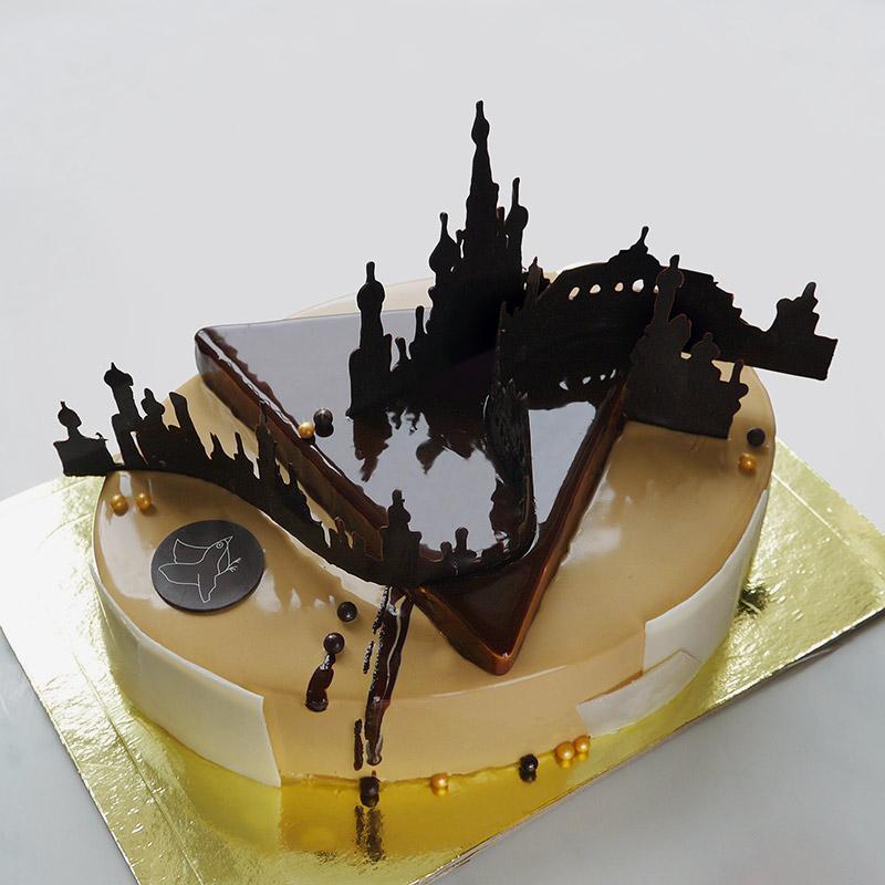 Торт с панорамой Москвы