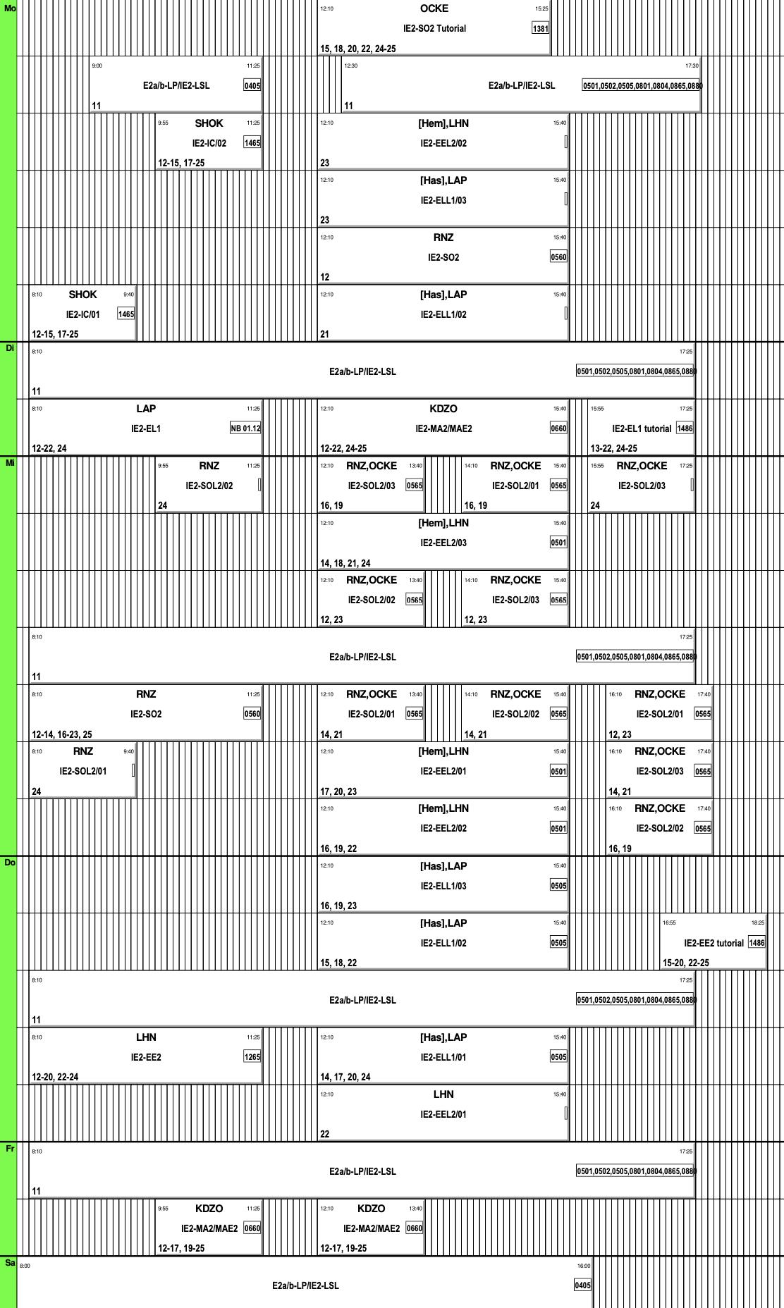 Вот так выглядело расписание занятий второго семестра. Оно может показаться непонятным, ноя уже бегло внем ориентируюсь. Ссайта университета можно скачать расписание длякалендаря понужным предметам — имудобнее пользоваться