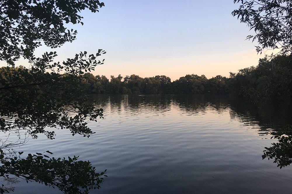 Озеро Boberger See. От моего дома навелосипеде дорога заняла 35—40 минут