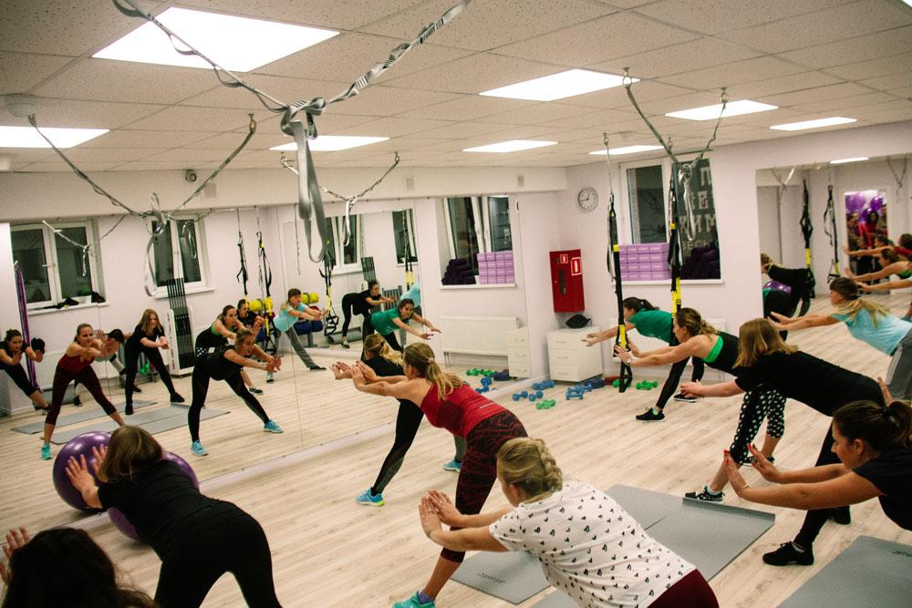На открытии провели мастер-классы, где каждый мог попробовать разные тренировки