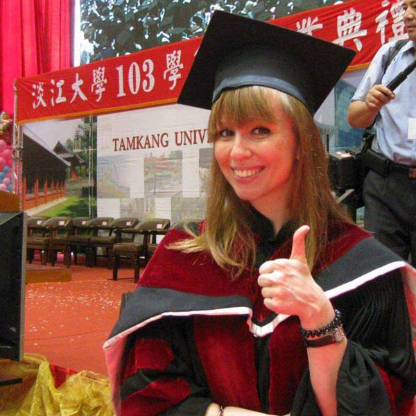 Это я на вручении степени PhD. В России мой тайваньский диплом приравнивается к званию кандидата наук
