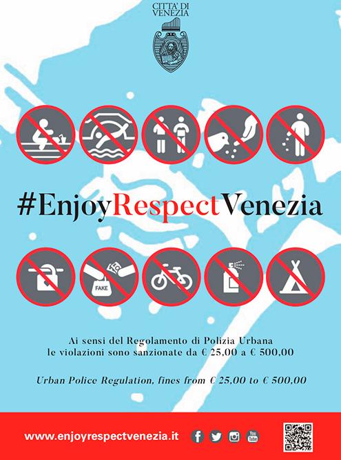 Памятка для туристов с официального туристического сайта Венеции. На площади Сан Марко за кормление голубей предусмотрен штраф в 500€