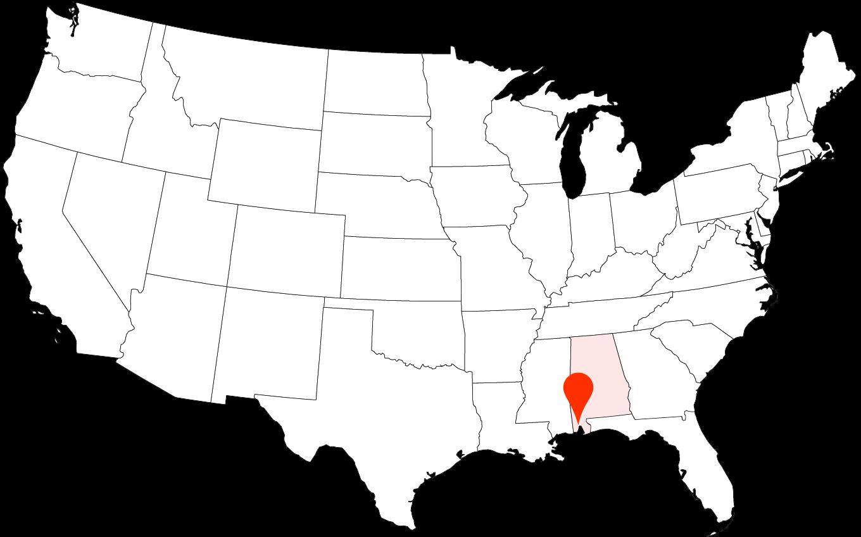 Мы живем в Мобиле — это небольшой город в штате Алабама