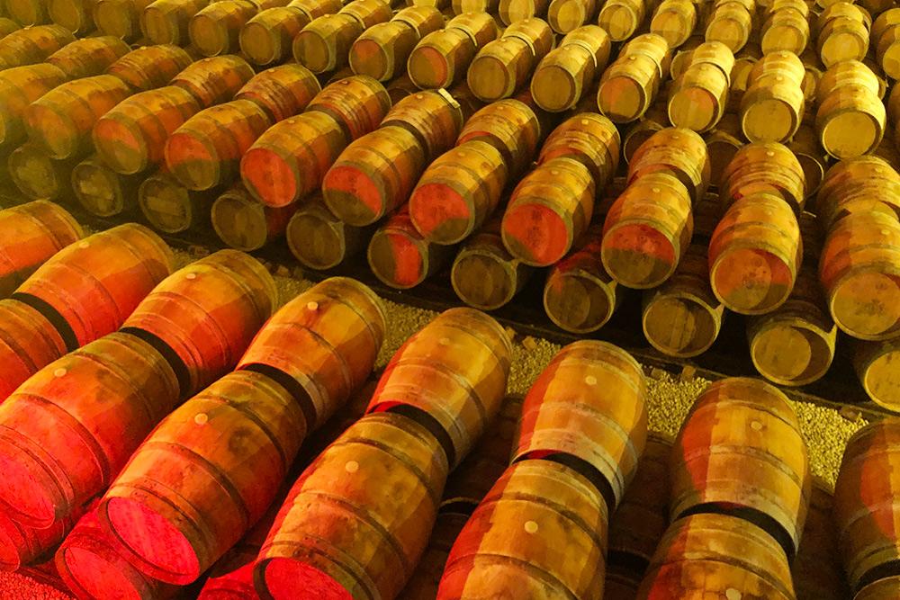 Вино выдерживают в200-литровых бочках изфранцузского дуба. Каждая стоит от600€ и служит всего 2—3 раза. Выдержка вбочке добавляет ксебестоимости вина 1—2€