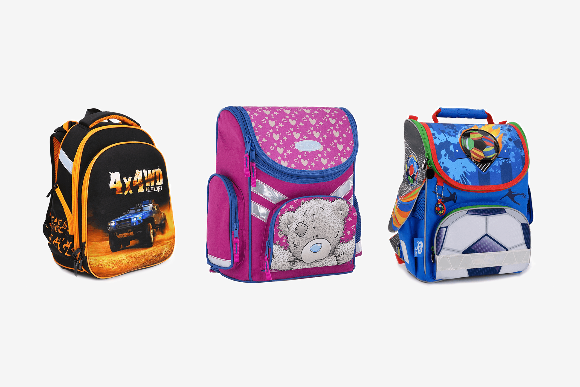 Если ребенок увидит рюкзак с Мстителями или Человеком-пауком, он не захочет никакой другой. Родители не устоят и купят, хотя рюкзак может быть неоправданно дорогим или неудобным. Предложите ребенку такое сочетание, из которого он точно выберет качественную и недорогую модель