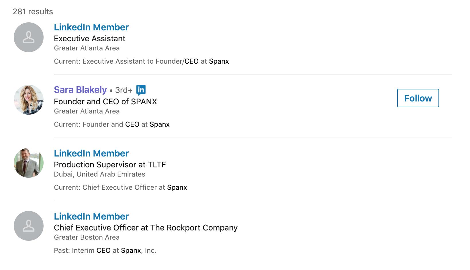 Сара написала в заголовке, что она основатель и директор SPANX. Я не знаю, чем занимается эта компания, а потому не могу быстро решить, интересна ли мне Сара. Советую указывать в заголовке название компании только в том случае, если о ней знают все