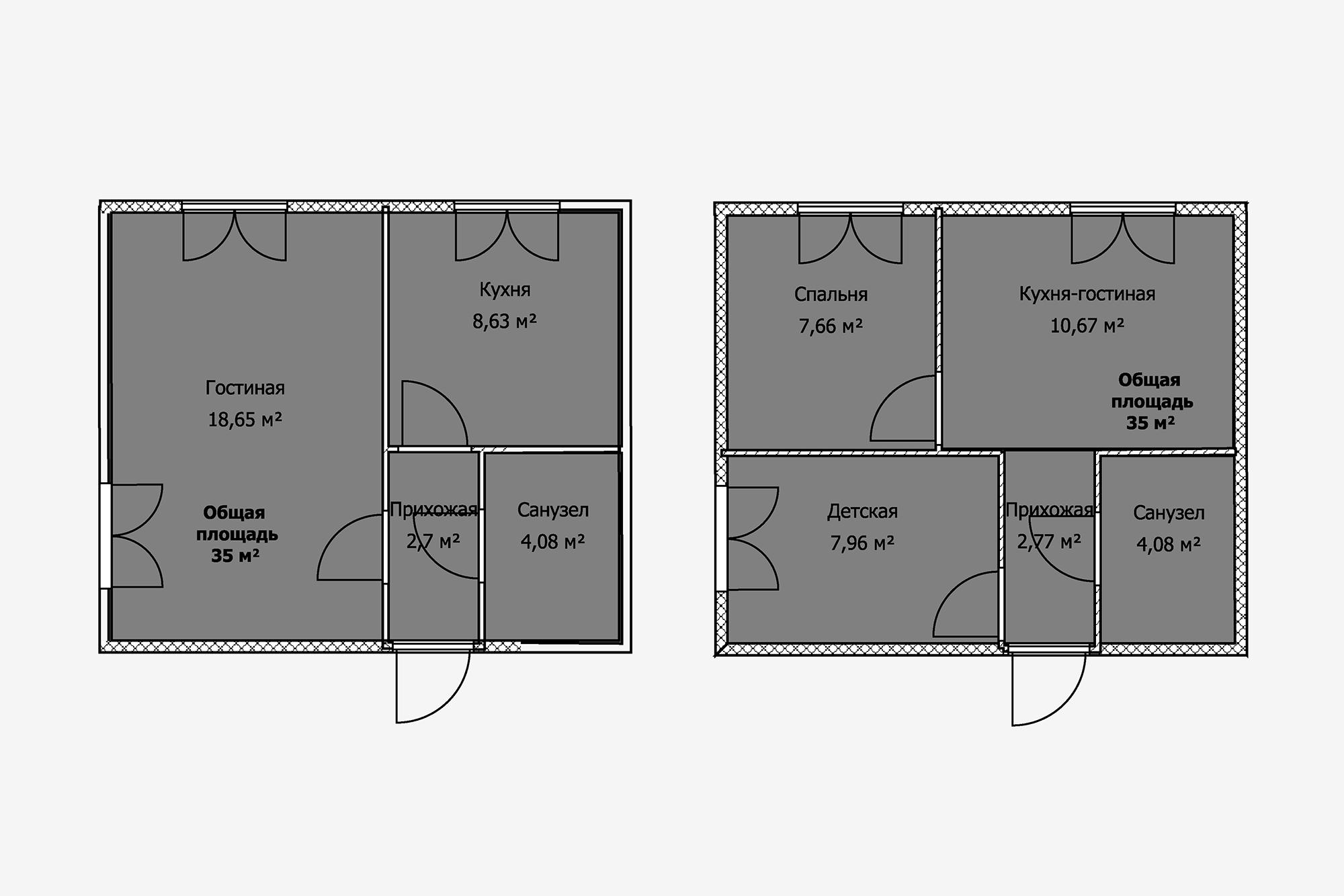 Вугловых квартирах окон обычно больше, потому что они могут выходить надве стороны. Втаком случае большую комнату можно разделить надве изолированные спальни. Конечно, они крошечные, нодля семьи сребенком это выход, если бюджет жестко ограничен