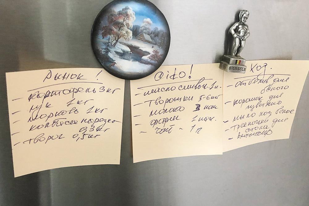 Списки покупок составляет жена: за «срочным» я заезжаю среди недели, а «рынок» и «хоз» оставляю на выходные