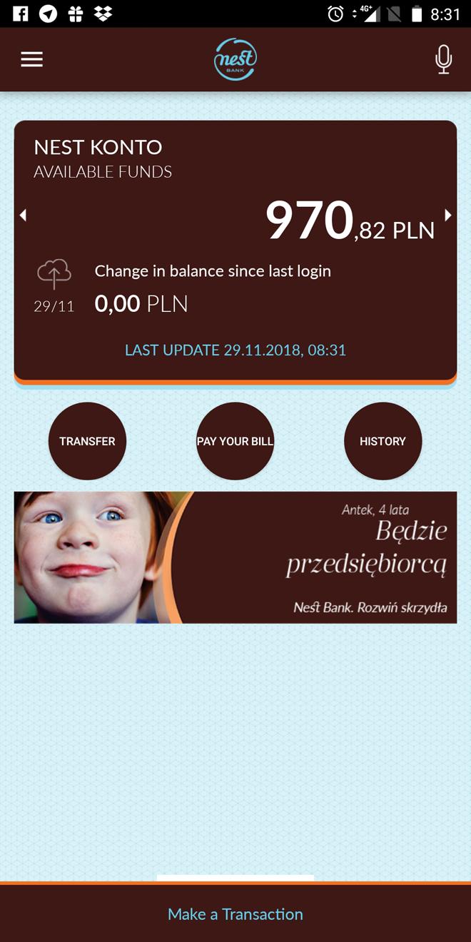 Так выглядит мобильное приложение моего банка «Нест-банк»
