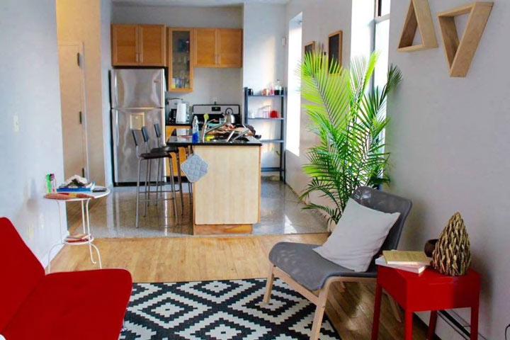 Квартира в Нью-Йорке, в Бруклине — 6000<span class=ruble>Р</span> за ночь. Можно жить вчетвером