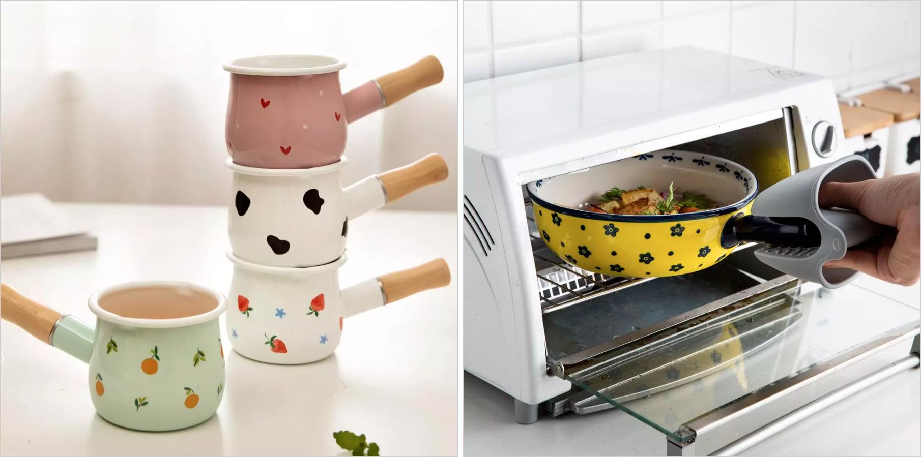 По фото посуда кажется похожей, но в реальности турки будут работать на индукционной плите, а форма длязапекания — нет