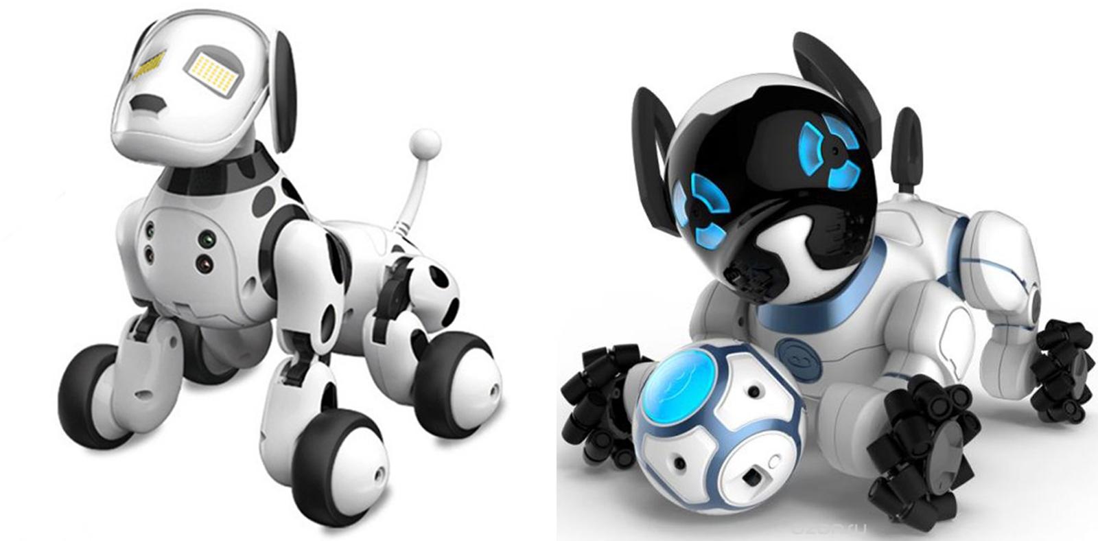 Слева — оригинал: интерактивная игрушка «Робот-собачка Чип» за 20 160<span class=ruble>Р</span>. Справа — аналог чуть дороже 2 000<span class=ruble>Р</span>