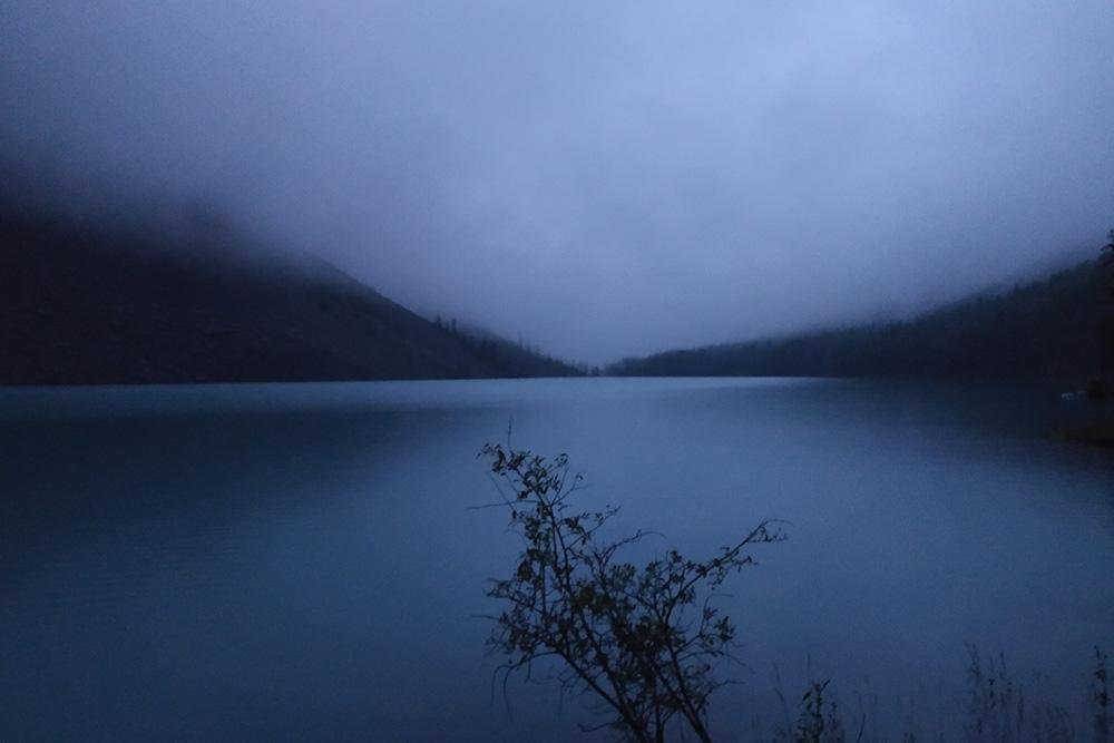 Нижнее Шавлинское озеро после заката