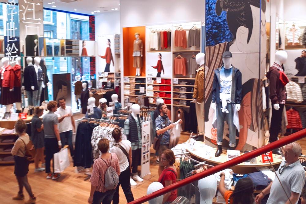 Недавно в Амстердаме открыли «Юникло»