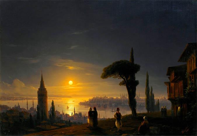 «Галатская башня в лунном свете» Ивана Айвазовского была продана за 1 322 051$