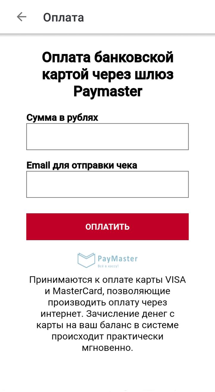 Форма для оплаты заказов такаяже, как припокупке в любом интернет-магазине