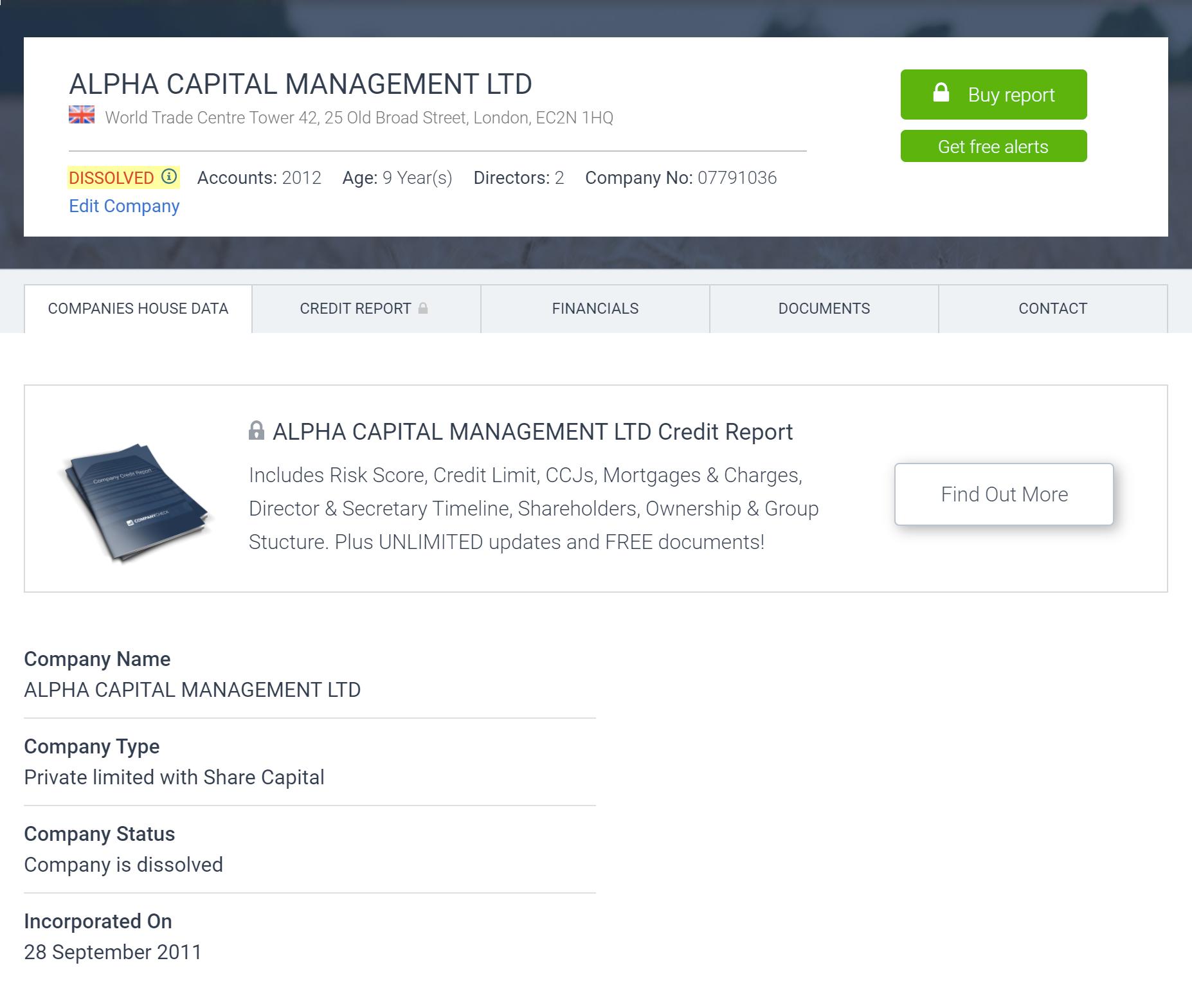 При этом компания Alpha Capital Management, которая значится в списке должностных лиц ATT Investments, уже ликвидирована