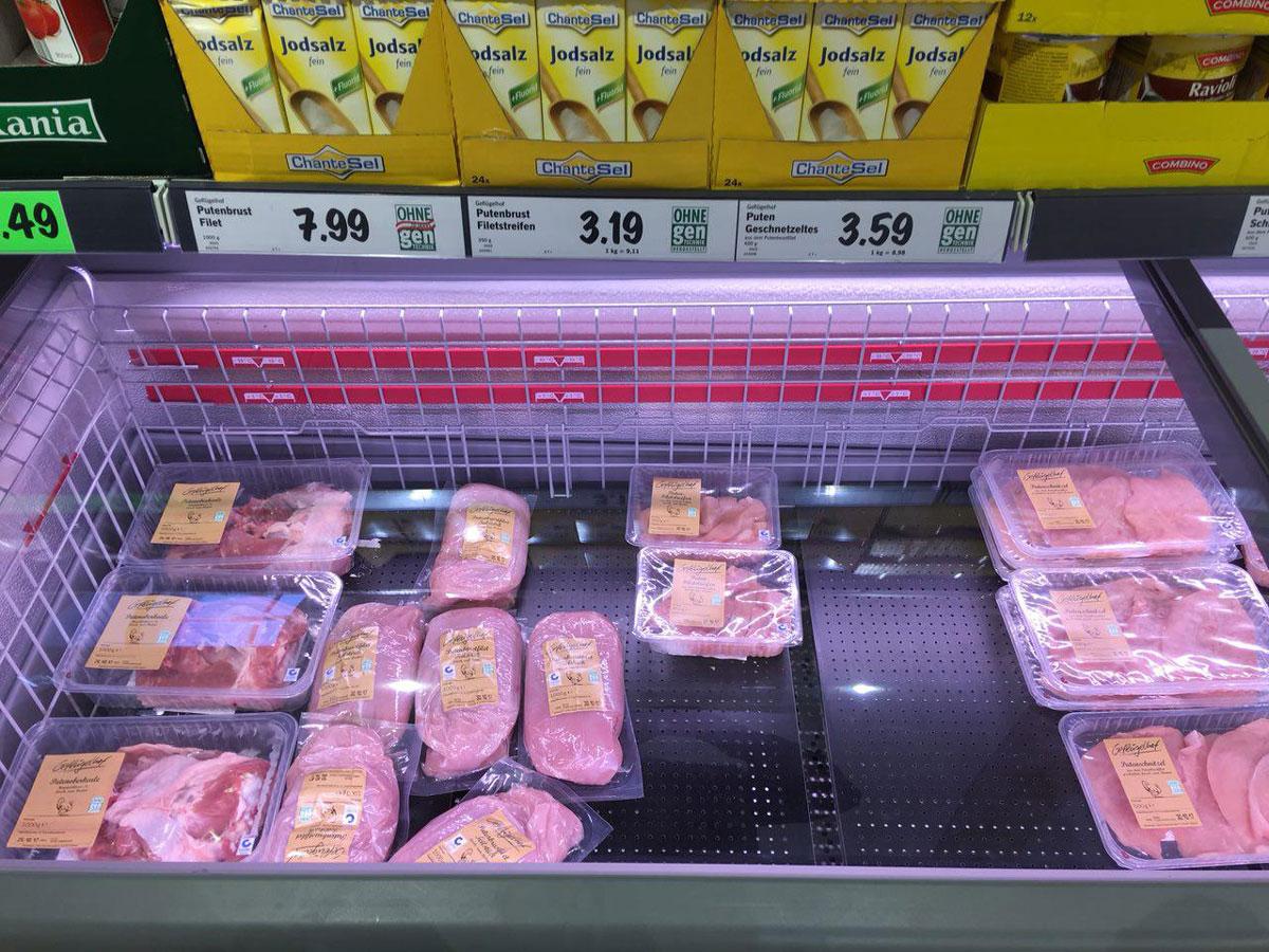 Путенбруст — это грудка индейки, стоит 3,19€ за 350 г