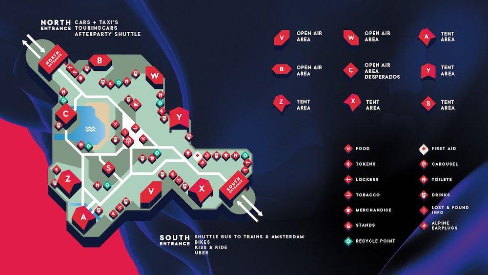 Карта всех сцен в 2019 году