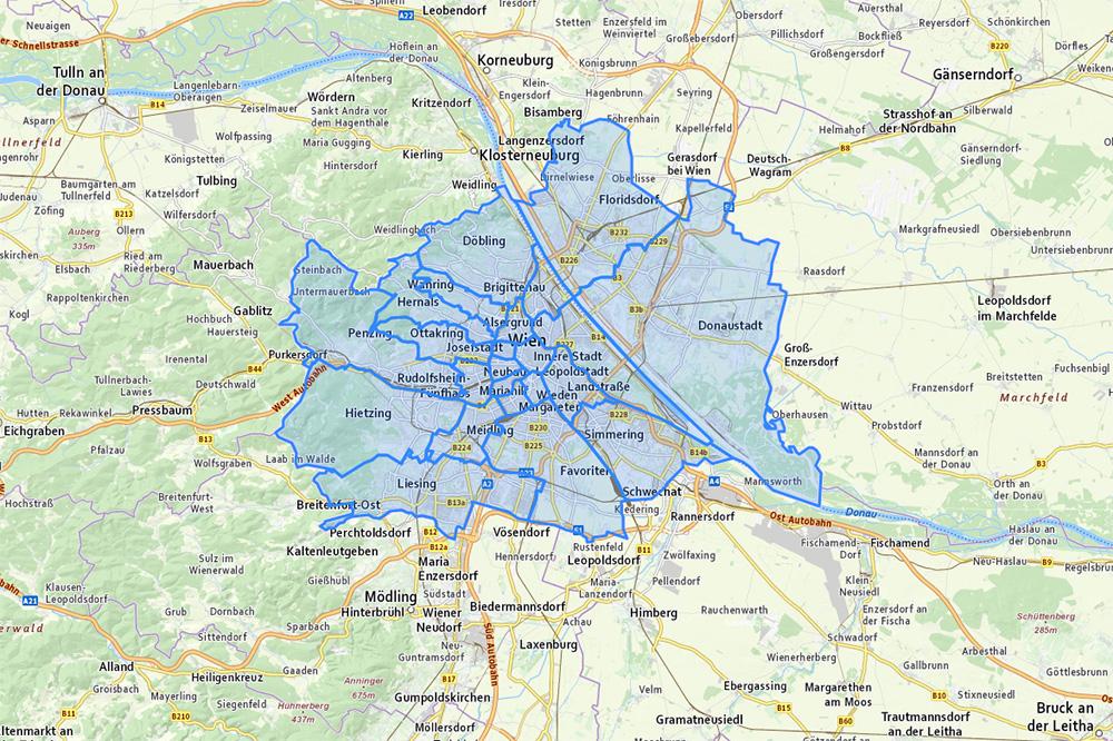 Карты районов и их названий с официального сайта города