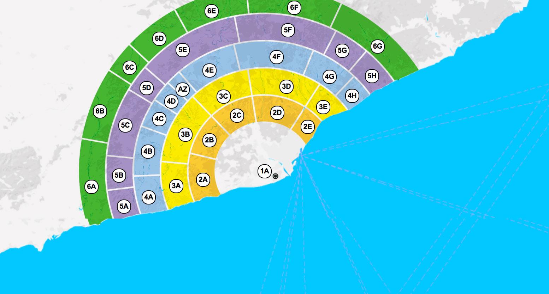 Карта зон общественного транспорта провинции Барселона