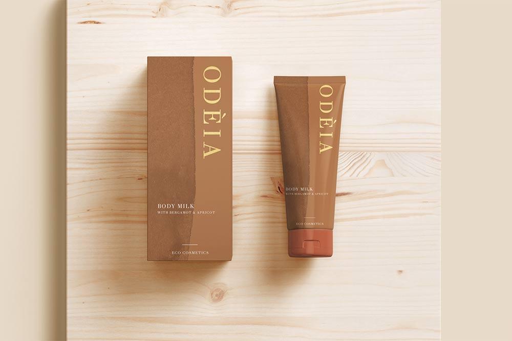 Брендинг упаковки длягреческого бренда косметики Odeia