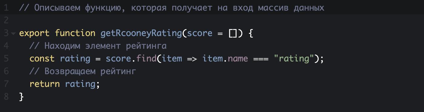 Так выглядят простенькие функции в JavaScript. С помощью этой функции программа понимает, как получить нужную информацию со стороннего сайта
