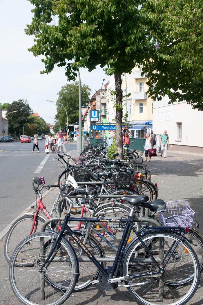 Велопарковка возле нашей станции метро