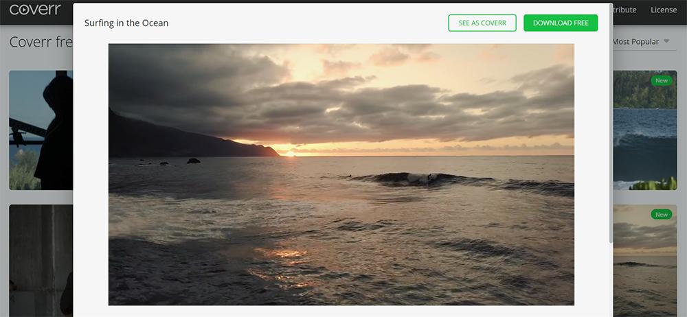 На Coverr просто найти видео длярекламы туристических продуктов