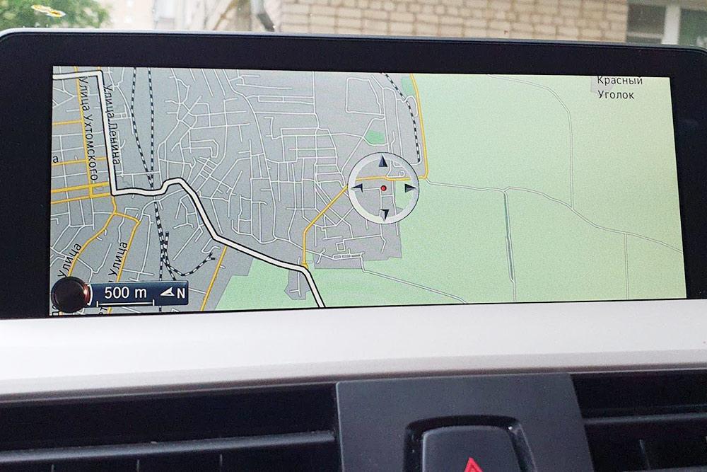Карта навигатора на новом экране