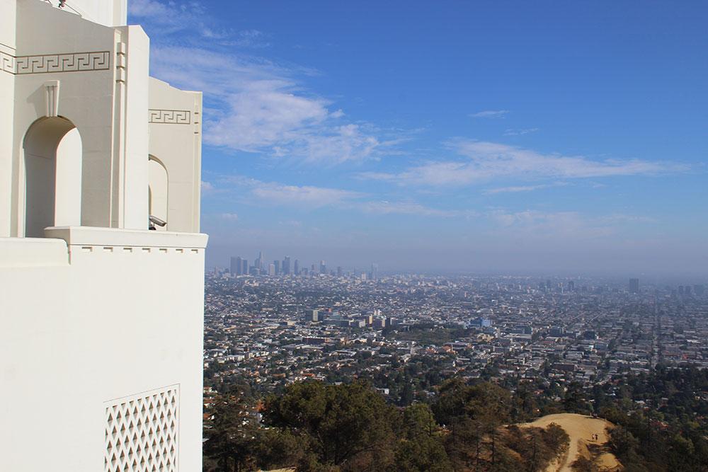 2013 год. Калифорния, Лос Анджелес. Вид на город с обсерватории Гриффита