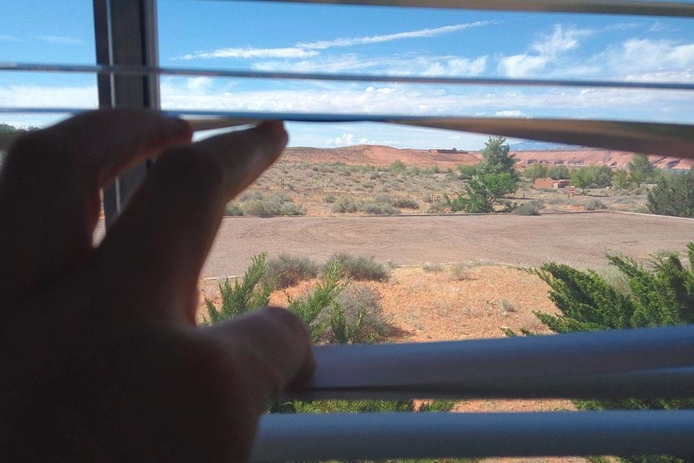 Вид из окна комнаты