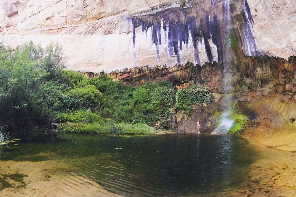 Водопад Каф-Крик, дорога до которого считается одним из самых легких пеших маршрутов. Мне маршрут показался довольно сложным
