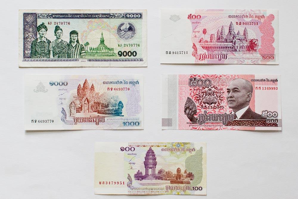 Камбоджийский риель. Почти на каждой купюре изображен город Ангкор