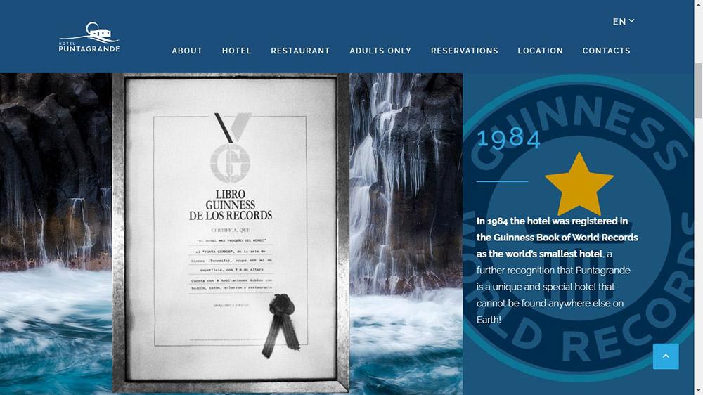 У Punta Grande есть официальный сертификат, подтверждающий, что когда-то он был самым маленьким отелем мира
