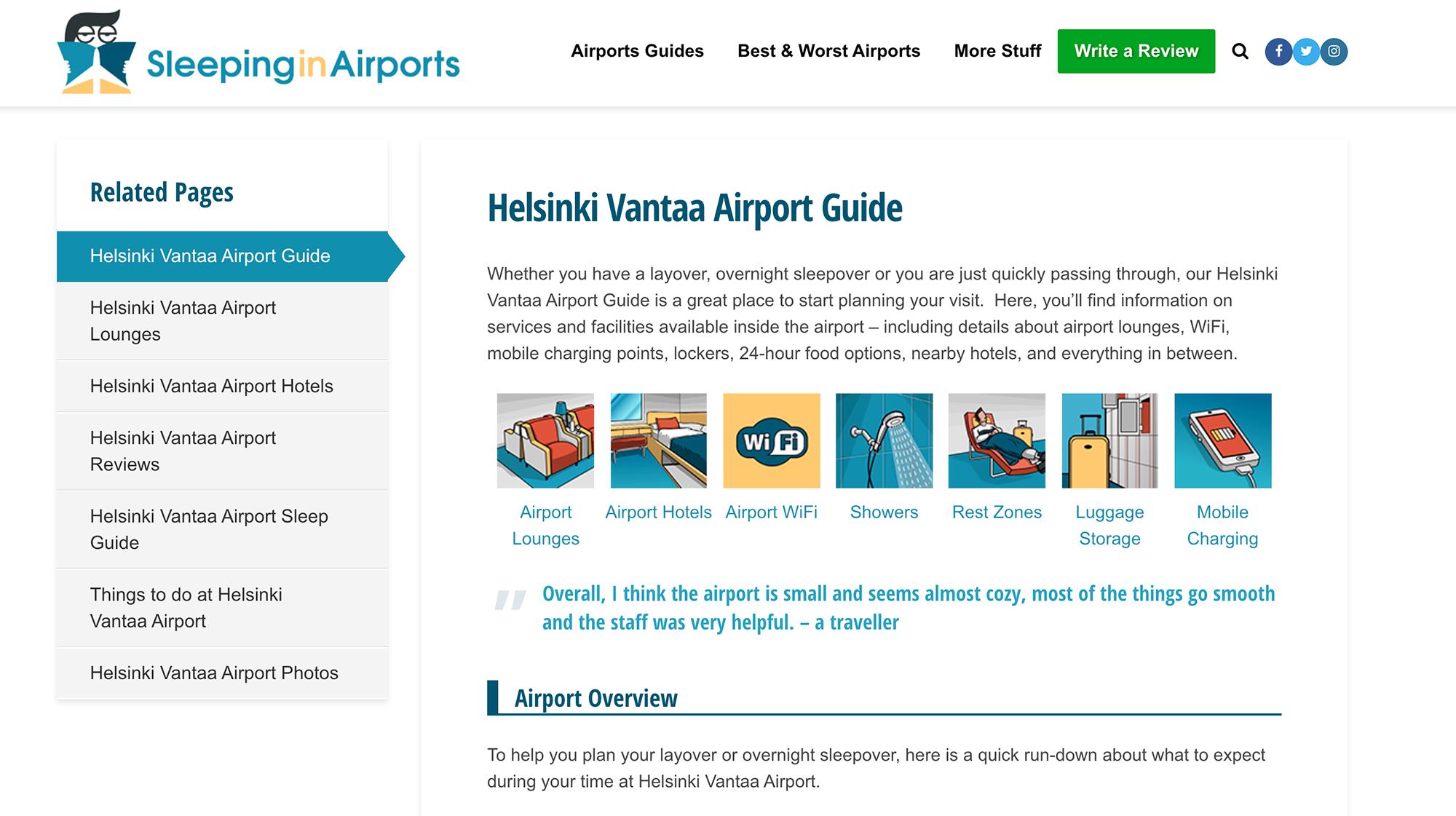В аэропорту Хельсинки есть бесплатный вайфай и зоны для отдыха