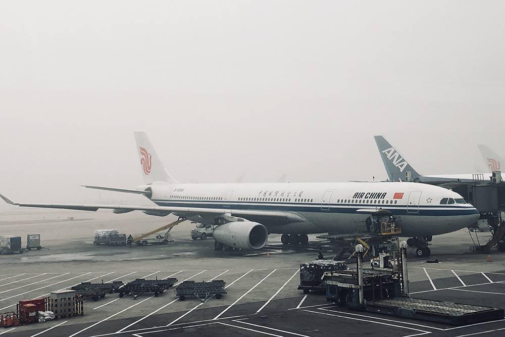 Смог в аэропорту Пекина. Мой рейс в Москву задержали на два часа