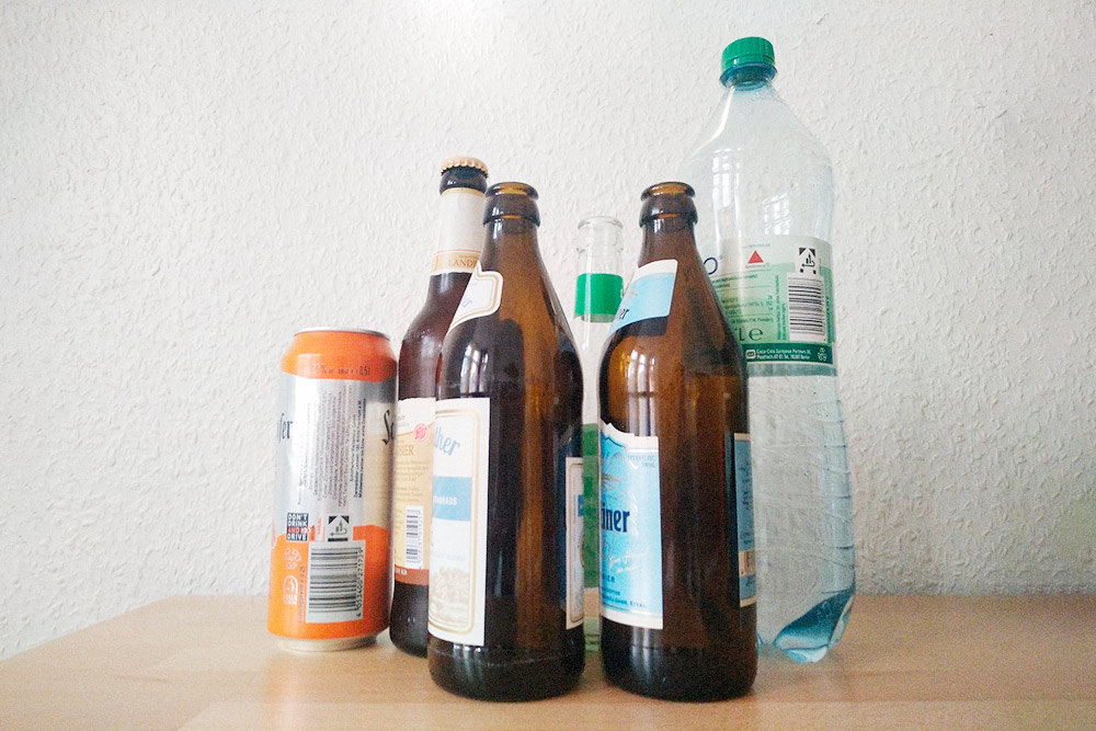 Чтобы сдать бутылки, их не нужно никак предварительно мыть и чистить