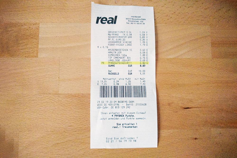 Наша скидка составила 0,82€. Ее хватило, например, полностью окупить камамбер