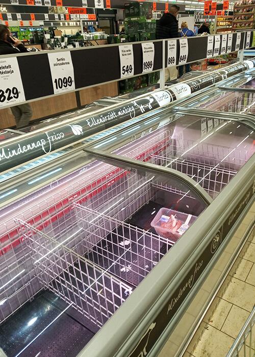За день мы обошли шесть магазинов, но мяса так нигде и не нашли