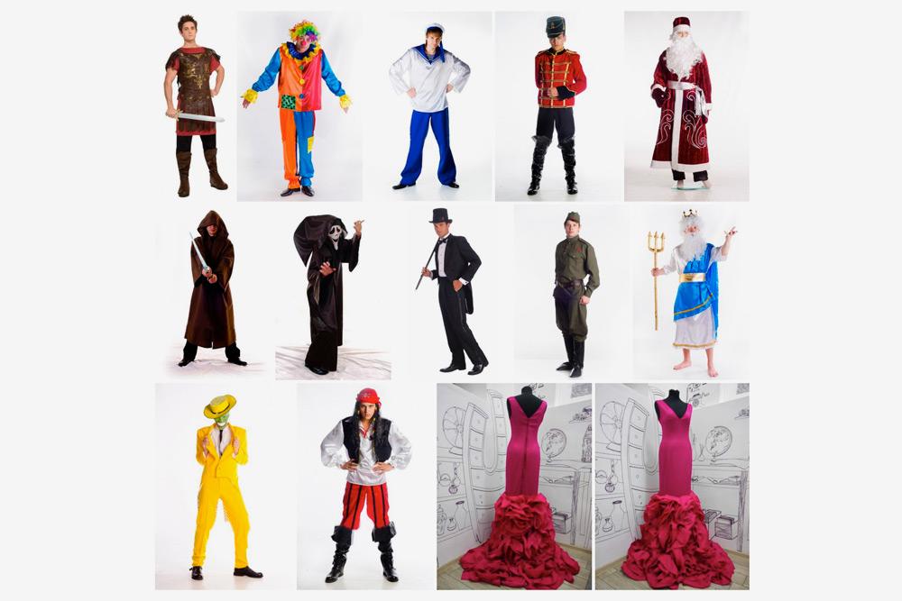 Примеры костюмов со страницы «Комода» во Вконтакте. Большинство фотографий берут у поставщиков