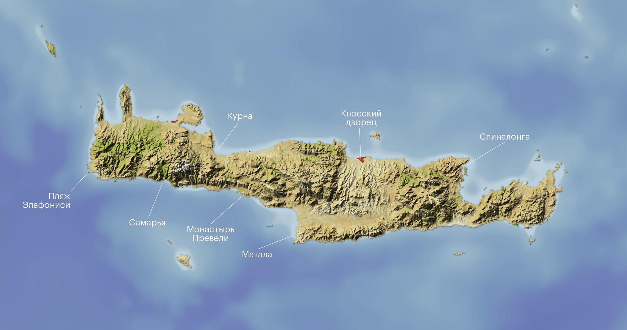На карте отмечены все перечисленные в разделе достопримечательности