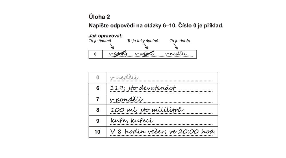 Образец заполнения экзаменационного бланка с развернутым ответом. Числовые значения можно записывать и буквами, и цифрами — оба варианта зачтут. Если хотите исправить ответ, надо зачеркнуть неправильный вариант косой чертой