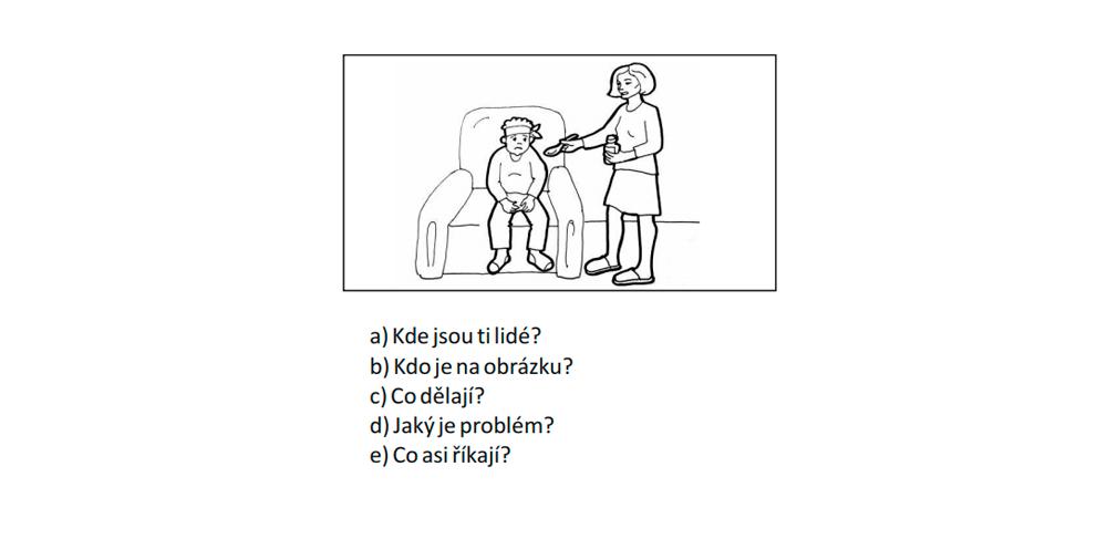 Пример задания из блока «Разговор». Расскажите, кто изображен на картинке, где персонаж находится, что делает, какая у него проблема и что он могбы сказать в этой ситуации