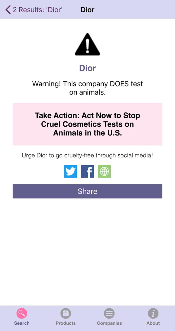 Приложение Bunny Free показывает, какую косметику тестируют наживотных