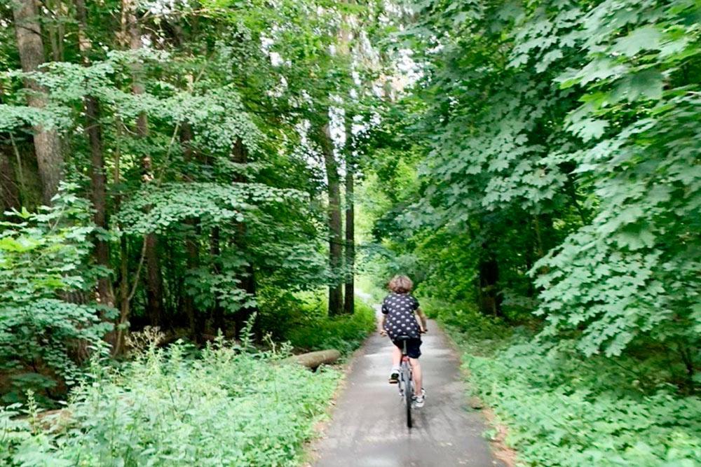 Вот так мы обычно катаемся на велосипеде