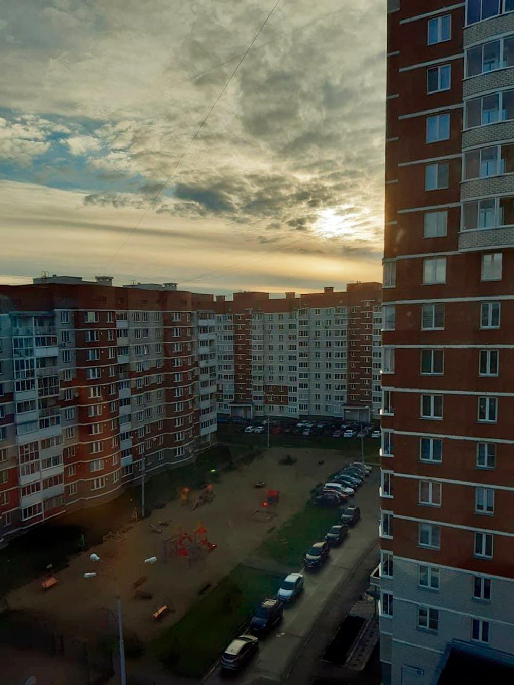 Вид из окна в шесть утра